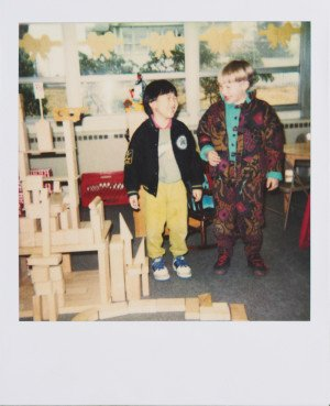 Me & my best friend in American kindergarten