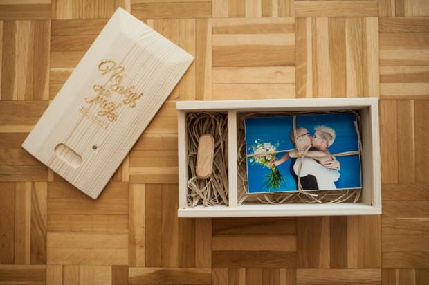 poročni lesen zabojček