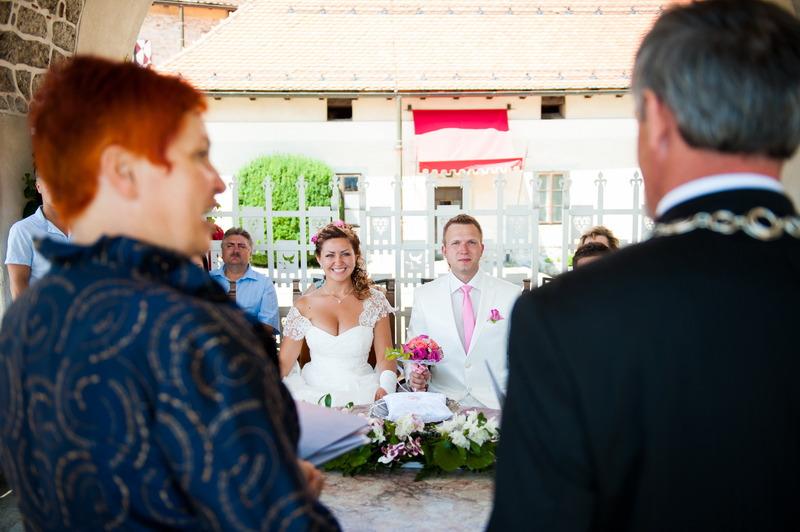 civilni poročni obred na bledu
